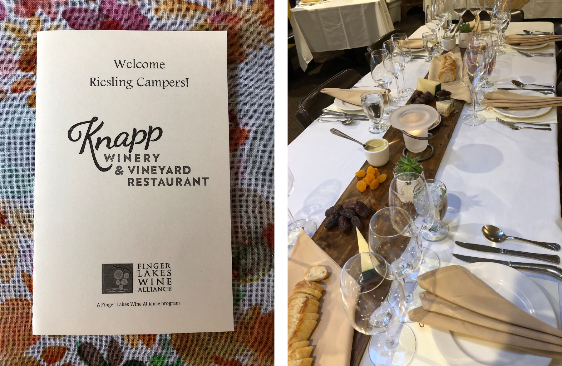 FLX Riesling Camp: Knapp Winery & Vineyard Restaurant - Wine